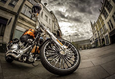 Motorcycle in the city. Stock Photography