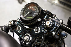 Motorcycle classic speedometer Royalty Free Stock Photo