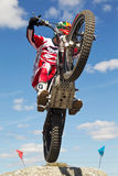 Motorcycle climbing Royalty Free Stock Images