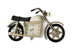 Motorcycle clock. Motorcycle with a clock in it Stock Photography
