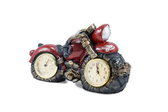 Motorcycle with clock and thermometer Royalty Free Stock Photos