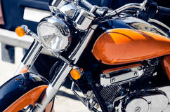 Motorcycle. Close up view. Driving royalty free stock photography