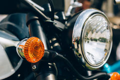 Motorcycle closeup Stock Photography