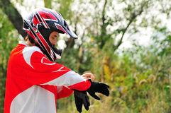 Motorcycle clothing Stock Photos