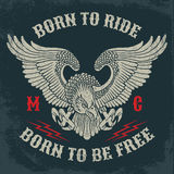 Motorcycle Club Emblem. Stock Images
