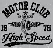 Motorcycle club emblem graphic design Stock Images