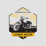 Motorcycle club label. Motorcycle symbol. Motocycle icon Royalty Free Stock Images