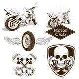 Motorcycle club logo emblem Stock Images