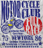Motorcycle Club Race Poster Man Graphic Vector Design Stock Photos