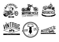 Motorcycle Club Vintage and Logo royalty free illustration