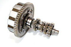 Motorcycle clutch with gears. Royalty Free Stock Photography
