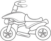 Motorcycle coloring page Stock Photos