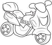 Motorcycle coloring page Stock Photo