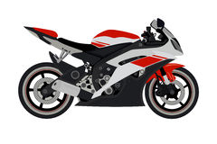 Motorcycle. Coloured motorcycle in the  depicted on a white background Royalty Free Stock Photos