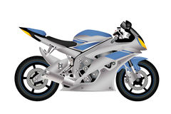 Motorcycle. Coloured motorcycle in the  depicted on a white background Royalty Free Stock Image