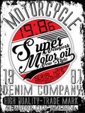 Motorcycle company typography, t-shirt graphics, vectors Royalty Free Stock Images