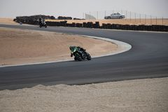 Motorcycle competition on a race track on. A training day b.b stock photos