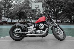 Motorcycle, with components designed beautiful. royalty free stock images