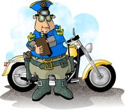 Motorcycle Cop stock illustration
