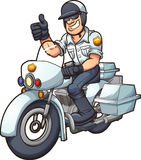 Motorcycle cop Stock Photo