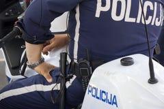 Motorcycle cop Stock Photo