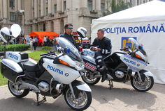 Motorcycle cops Royalty Free Stock Photo