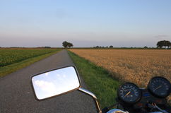 Motorcycle in the country. Motorcycle vacation in rural country Stock Images