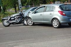 Motorcycle crash Royalty Free Stock Image