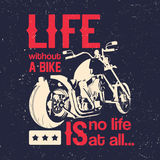 Motorcycle Creative Poster Stock Photo
