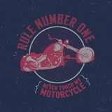 Motorcycle Creative Poster Royalty Free Stock Photos