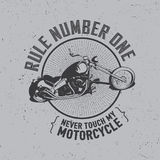 Motorcycle Creative Poster Stock Images