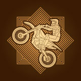 Motorcycle cross jumping graphic Stock Photography