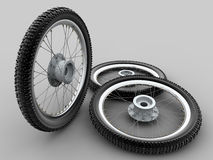 Motorcycle cross tyre Stock Photos