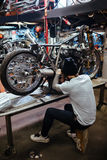 Motorcycle Customs Shop Stock Images