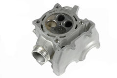 Motorcycle Cylinder Head (bottom view) Stock Image