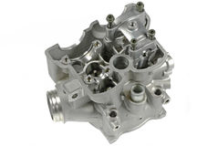 Motorcycle Cylinder Head (top view) Royalty Free Stock Images