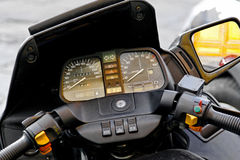 Motorcycle dashboard Stock Images