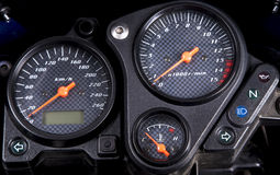 Motorcycle dashboard. Stock Photography