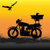 Motorcycle Dawn Vector Illustration