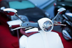Motorcycle and defocused background Stock Photo