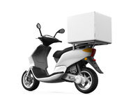Motorcycle Delivery Box Royalty Free Stock Images