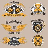 Motorcycle design badges Stock Photography