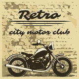 Motorcycle design on distressed background Royalty Free Stock Photo