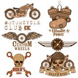 Motorcycle Design Element Stock Photos
