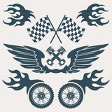 Motorcycle design elements Royalty Free Stock Images