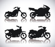 Motorcycle design. Royalty Free Stock Photos