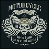 Motorcycle Design Template Logo. Skull rider - Royalty Free Stock Photo