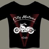 Motorcycle design template for t-shirt Stock Image