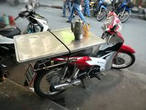Motorcycle desk Floating market in Thailand Royalty Free Stock Photo