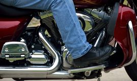 Motorcycle detail Stock Photo